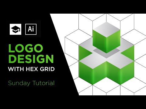 How to design a 3D logo with Hex Grid | Adobe Illustrator Logo Design Tutorial