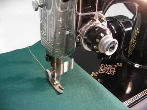 1940 Singer Featherweight 221 Sewing Machine Demo