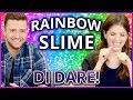 DIY NEON RAINBOW SLIME?! Di Dare w Justin Timberlake and Anna Kendrick -