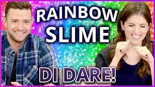 Download Lagu DIY NEON RAINBOW SLIME?! Di Dare w/ Justin Timberlake and Anna Kendrick Gratis STAFABAND