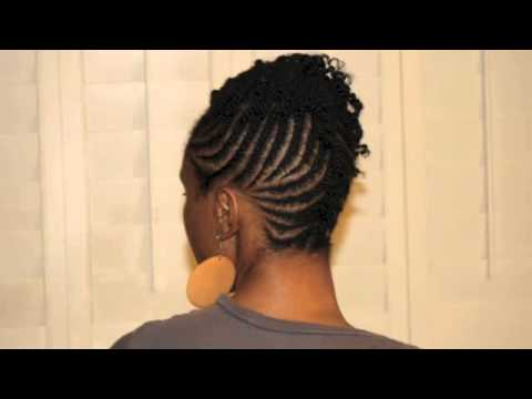 Funky Protective Style Updo - Cornrows/Twists - Professionally Styled ...