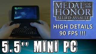 1# GPD Win Medal of Honor: Allied Assault (PC) test Portable Handheld Gaming Mini PC Intel X7 Z8700