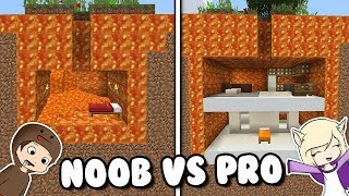 NOOB VS PRO: BASE SECRETA BAJO LA LAVA EN MINECRAFT