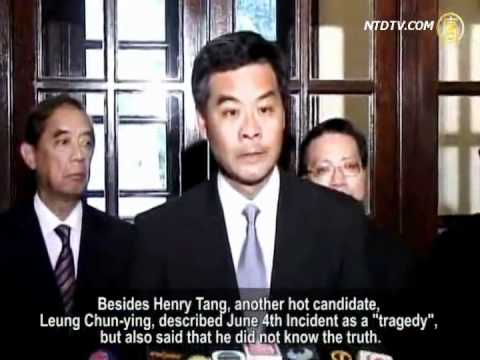 "Henry Tang: June 4th Incident is an ""Isolated Incident"""