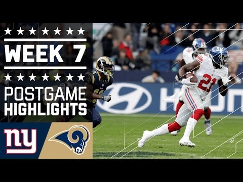 Giants Vs Rams Nfl In London Week 7 Game Highlights
