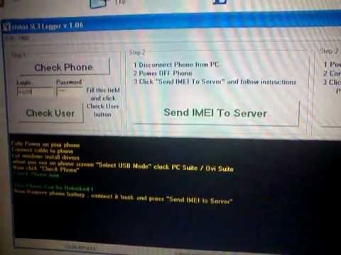 unlock nokia SL3 by USB step 1 by sim-unlock.net
