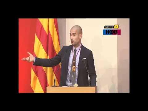 Discurso subtitulado (español/english) de Pep Guardiola en la Medalla de Honor del Parlament