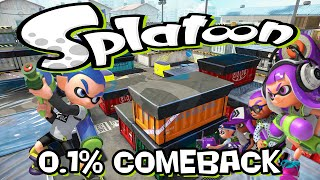 Splatoon - 0.1% comeback on Port Mackerel