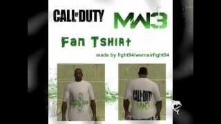 gta sa call of duty mw3 fan tshirt skin mod