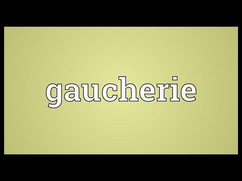 Header of gaucherie