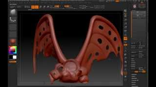 ZBrush | Speed tutorial make holes in planar surfaces