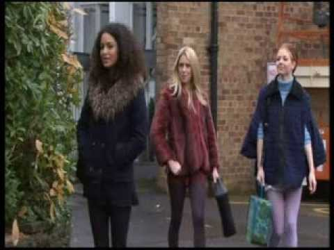 Hollyoaks girls - short skirts and tights