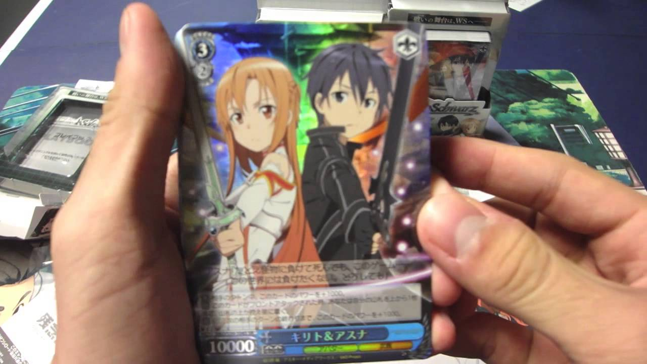 weiss schwarz sword art online trial deck opening. Black Bedroom Furniture Sets. Home Design Ideas