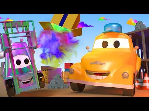Погрузчик Френсис - Автомойка Эвакуатора Тома в Автомобильный Город 💧 детский мультфильм
