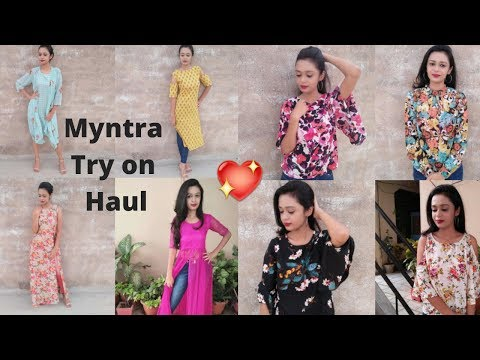 MYNTRA TRY ON HAUL|| Myntra KURTI HAUL|| MYNTRA HAUL LOOKBOOK 2018||Trying clothes from MYNTRA