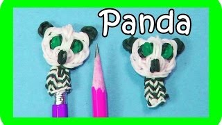 Rainbow Loom PANDA BEAR Pencil Topper