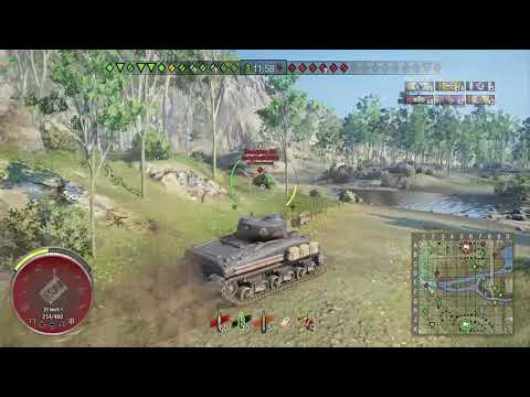 World of Tanks Xbox one CHAMPION M4 SHERMAN 4 Kills (1st game)