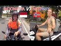 HOW INDONESIANS RIDE MOTORBIKE VS NORWEGIANS!