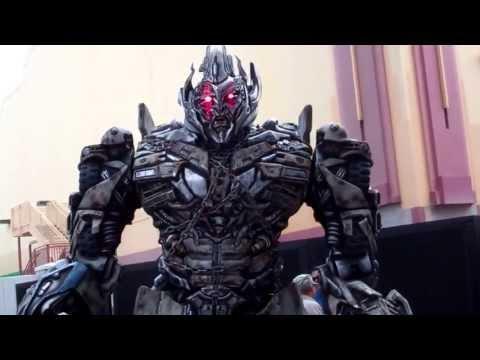 Megatron Optimus Prime and Bumblebee meet guest at Universal Studios Orlando Florida
