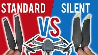 DJI Mavic Pro Silent propellers vs Standard props Test