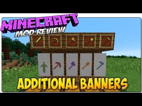 MINECRAFT MODS 1.8 ESPAÑOL | ADDITIONAL BANNERS | MOD REVIEW