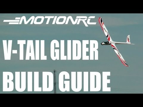 MOTIONRC 2.2M V-Tail Glider PNF Review & Build Guide By Rich Baker in HD