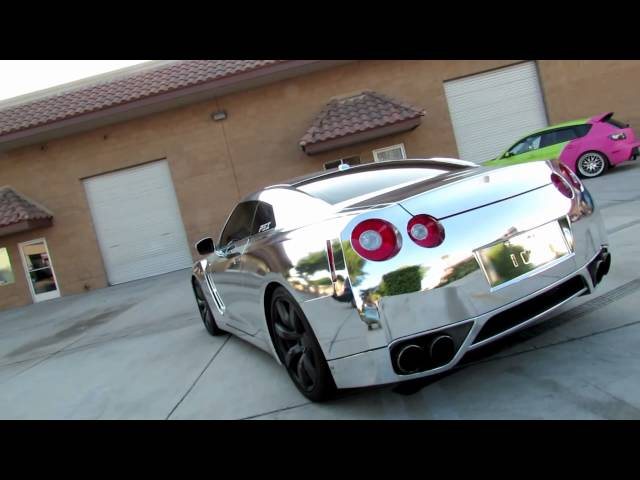 Nissan GTR R35 Wrapped in Silver Chrome By Impressive Wrap ...