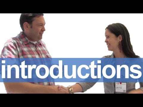 How to Introduce Yourself — American English Pronunciation
