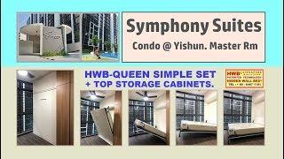 Symphony Suites HWB-Queen Simple Set.Hidden bed /Wall Bed +Top Storage Cabinet.HWB HUB.HDB.BTO.EC