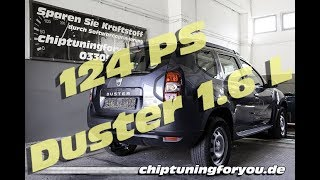 Dacia Duster 1.6 Benziner Chiptuning ohne Tuning-Box oder Race Chip Prüfstand Powertuning