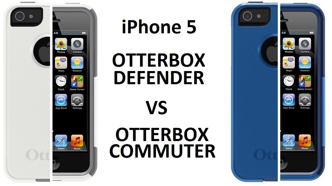 otterbox defender vs commuter case iphone 5 youtube. Black Bedroom Furniture Sets. Home Design Ideas