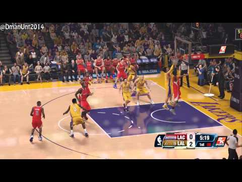 Playstation 4 NBA 2K14 HD Game Play - LA Lakers vs. LA Clippers