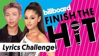 Download Lagu Ariana Grande, BTS Billboard Music Awards Lyrics Challenge | Finish The Hit | Billboard Gratis STAFABAND