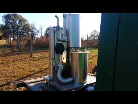 Gasifier Running a Ford 45kw Generator