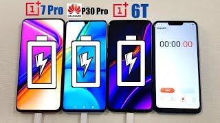 One Plus 7 Pro vs Huawei P30 Pro vs One Plus 6T BATTERY CHARGING TEST