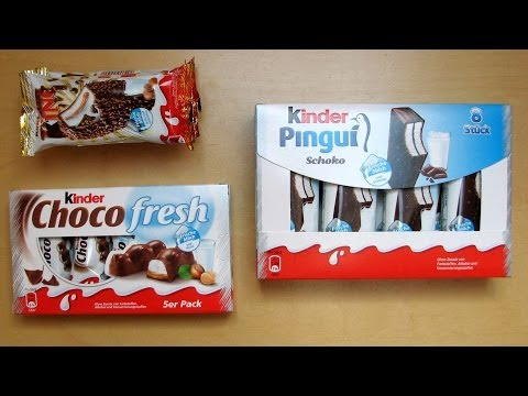 [Kinder Pingui] vs [Kinder Maxi King] vs [Kinder Choco fresh]