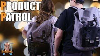 Vaschy School Backpacks Unboxing Product Demonstration Vintage Canvas bag