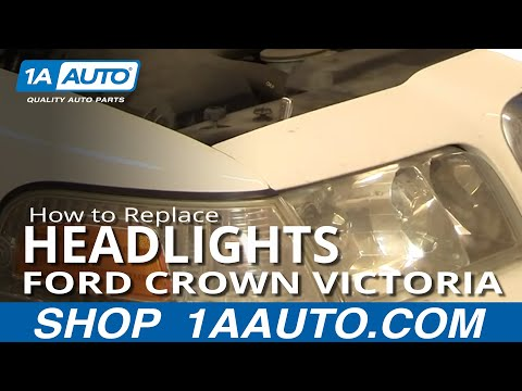 How To Install Repair Replace Headlight Ford Crown Victoria 98-07 1AAuto.com