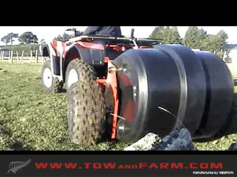 Tow and Collect Mini - PASTURE CLEANER - Horse Manure Collector. Goose Poop Sweeper