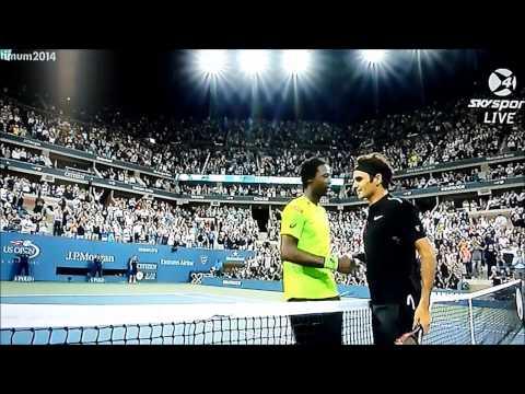 Roger Federer vs Gael Monfils US Open 2014 final point