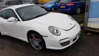 Dismantling 2009 WHITE Porsche  911 3.8 Petrol 7 Speed Sequential Automatic 2 Door Coupe 34233 miles