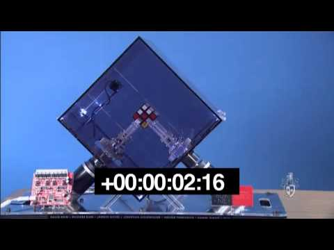 Swinburne's Record Breaking Rubik's Cube Robot