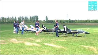 SENSATION FORMATION FLIGHT with 6X AERO L-39 ALBATROS HORIZON TEAM UNLIMITED RC TURBINE JET
