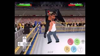 Dean Ambrose vs Roman Reigns vs Seth Rollins Hardcore Match - Wrestling Revolution 3D