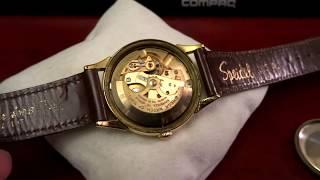 Vintage 1956 Omega 10K Gold Filled Bezel Mov 490 Mens Watch w/ 17mm Leather Band