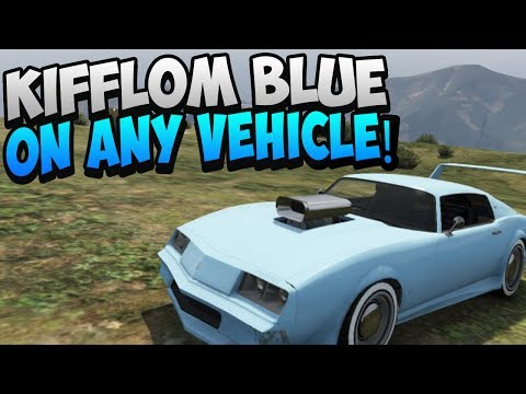 GTA 5 ONLINE: HOW TO GET KIFFLOM BLUE ON ANY CAR! SECRET PAINT JOB! KIFFLOM CARS (GTA 5 GLITCHES)
