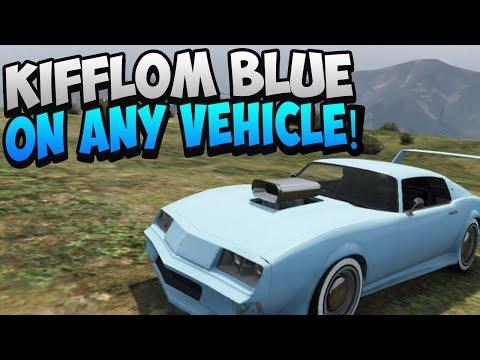 GTA 5 ONLINE: HOW TO GET KIFFLOM BLUE ON ANY CAR! SECRET PAINT JOB! KIFFLOM CARS (GTA 5 GLITCHES)