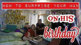 Birthday surprise for your man :)