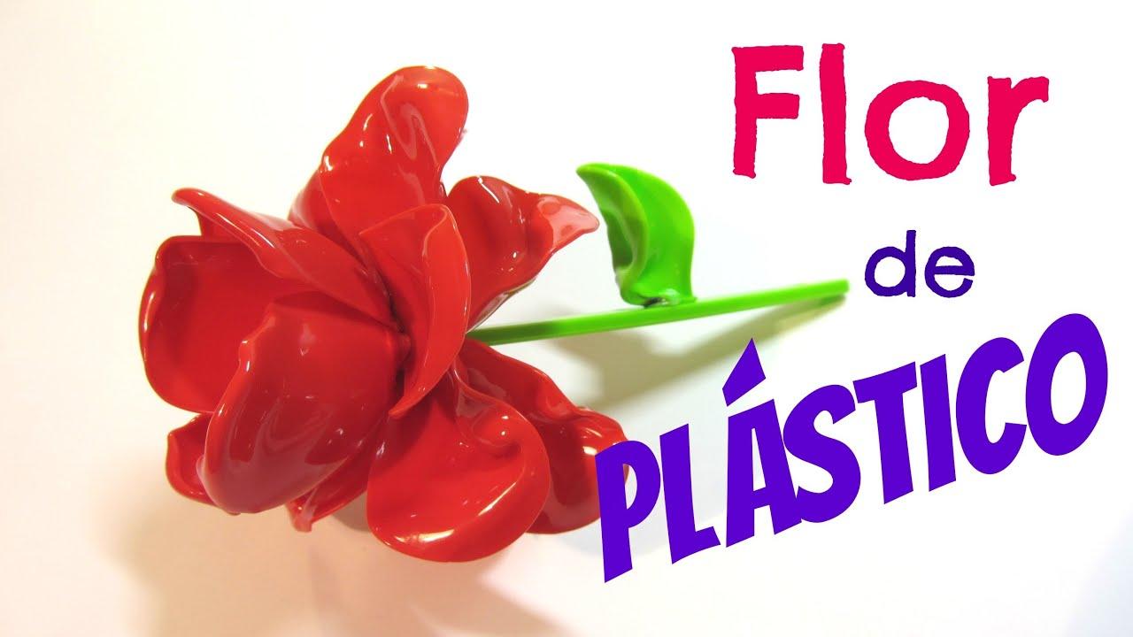 Tutorial flores de pl stico plastic flowers youtube - Flores de plastico ...