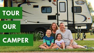 Family of Four Lives in 17ft Travel Trailer - Forest River Viking Bunkhouse - RV Life